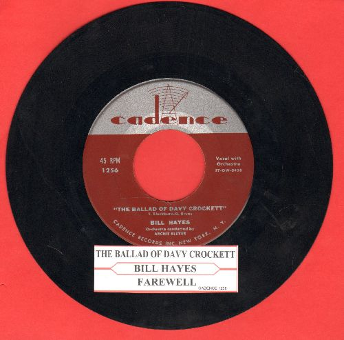 Hayes, Bill - The Ballad Of Davy Crockett/Farewell (with juke box label) - VG7/ - 45 rpm Records