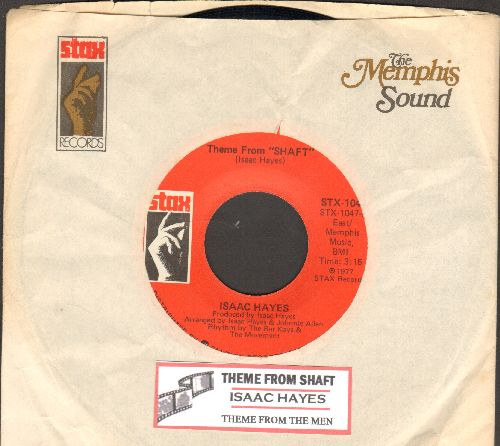 Hayes, Isaac - Theme From -Shaft-/Theme From -The Men- (double-hit re-issue with juke box label and company sleeve) - M10/ - 45 rpm Records