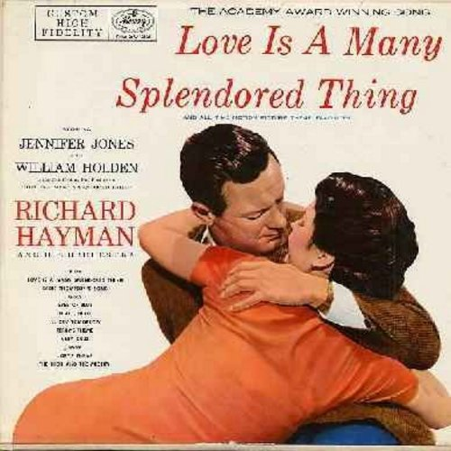 Hayman, Richard & His Orchestra - Love Is A Many Splendored Thing - and all time Motion Picture Theme Favirtes: Ruby, Hi-Lili Hi-Lo, Terry's Theme, Sadie Thompson's Song, Joey's Theme (Vinyl MONO LP record) - NM9/EX8 - LP Records