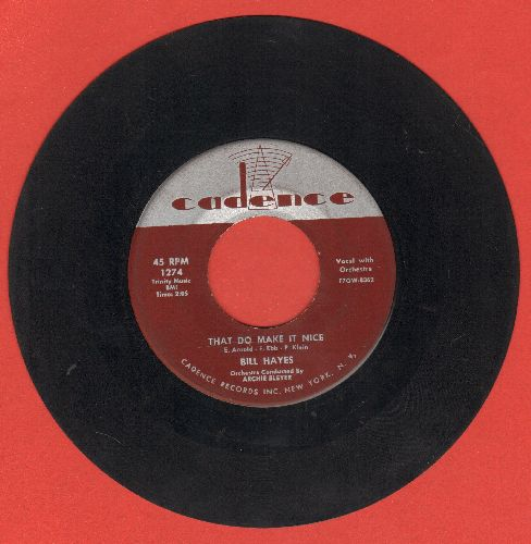 Hayes, Bill - That Do Make It Nice/Kwela-Kwela  - EX8/ - 45 rpm Records