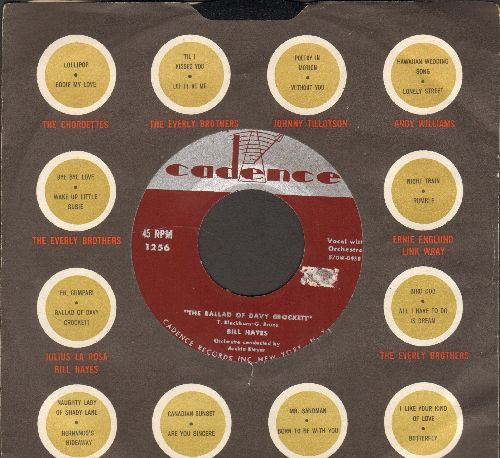 Hayes, Bill - The Ballad Of Davy Crockett/Farewell (with Cadence company sleeve) - EX8/ - 45 rpm Records