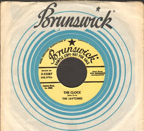 Jaytones - The Clock/Gasoline (re-issue of vintage Doo-Wop 2-sider  with Brunswick company sleeve) - NM9/ - 45 rpm Records