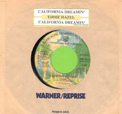 Hazel, Eddie - California Dreamin'(double-A-sided DJ advance pressing of RARE vintage Funk version of the Mamas & Papas Classic, with juke box label and company sleeve) - NM9/ - 45 rpm Records