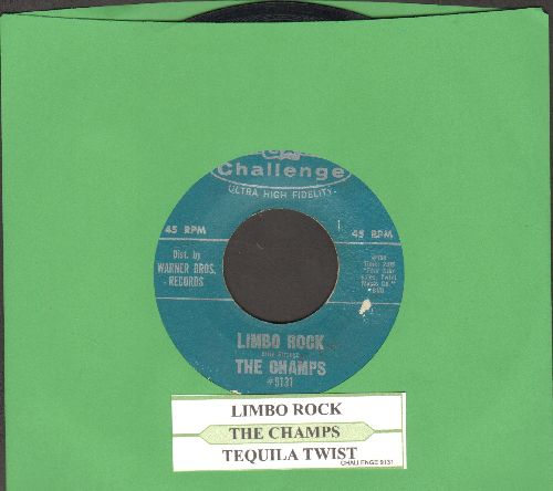 Champs - Limbo Rock/Tequila Twist (with juke box label) - VG7/ - 45 rpm Records