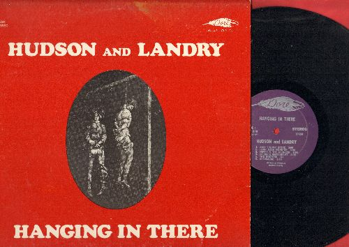 Hudson & Landry - Hanging In There: Ajax Liquor Store, Hippie And The Redneck, Top Forty DJ's, Friar Chuck, more! Hilarious comedy album, lots of Risque HUMOR (Vinyl STEREO LP record, purple label) - NM9/EX8 - LP Records