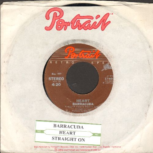 Heart - Barracuda/Straight On (double-hit re-issue with juke box label and Portrait company sleeve) - EX8/ - 45 rpm Records