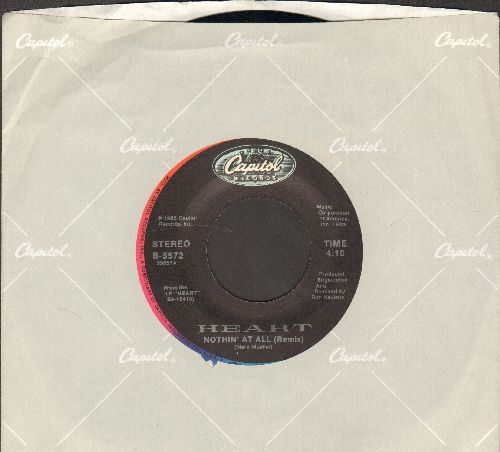 Heart - Nothin' At All (Remix)/The Wolf (with Capitol company sleeve) - NM9/ - 45 rpm Records