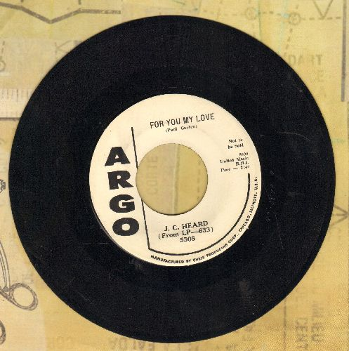 Heard, J. C. - For You My Love/Blues For Sale (FANTASTIC vintage Jazz 2-sider! - DJ advance pressing) - EX8/ - 45 rpm Records