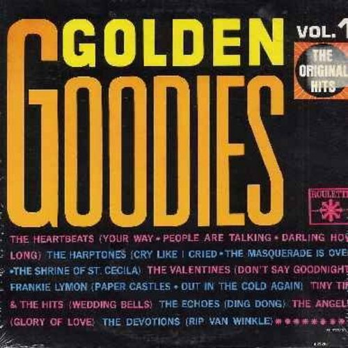 Heartbeats, Angels, Harptones, Echoes, Frankie Lymon, others - Golden Goodies Vol. 1: Glory Of Love, Ding Dong, Rip Van Winkle, The Shrine Of St. Cecilia (Vinyl MONO LP record) - M10/VG7 - LP Records