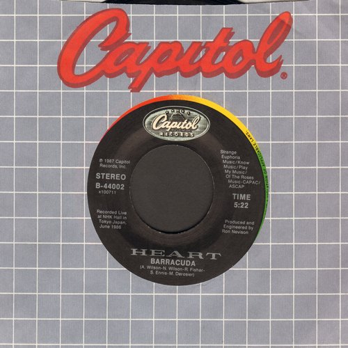 Heart - Barracuda/Alone (wth Capitol company sleeve) - EX8/ - 45 rpm Records