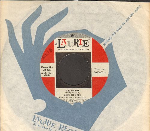 Meister, Gary - Death Row/Love Me Today (with Laurie compcany sleeve) - NM9/ - 45 rpm Records