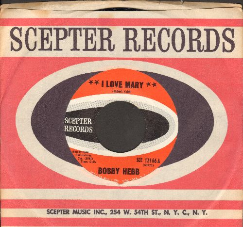 Hebb, Bobby - I Love Mary/I Love Mary (Instrumental) (with Scepter company sleeve) - NM9/ - 45 rpm Records