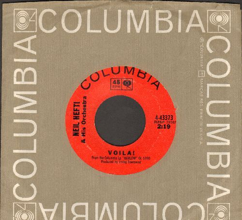 Hefti, Neal & His Orchestra - Voila!/Bathtub - Saturday Night (both titles from film -Harlow-) (with Columbia company sleeve) - NM9/ - 45 rpm Records