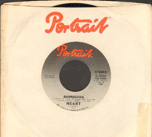 Heart - Barracuda/Cry To Me (with Portrait company sleeve) - NM9/ - 45 rpm Records