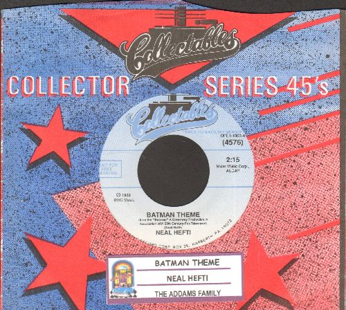 Hefti, Neal - Batman Theme/The Addams Family (double-hit re-issue with juke box label and company sleeve) - NM9/ - 45 rpm Records