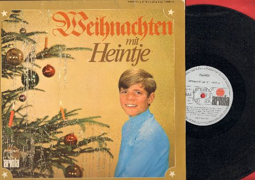Heintje - Weihnachten mit Heintje: Stille Nacht, Leise rieselt der Schnee, O Tannenbaum, Kling Glockchen Kling, Alle Jahre wieder (vinyl STEREO LP record, German Pressing, sung in German) - EX8/NM9 - LP Records