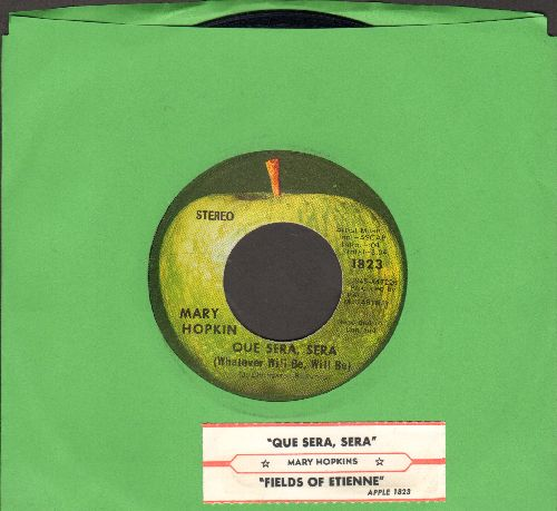 Hopkin, Mary - Que Sera, Sera (Whatever Will Be)/Fields Of St. Etienne (with juke box label) - NM9/ - 45 rpm Records