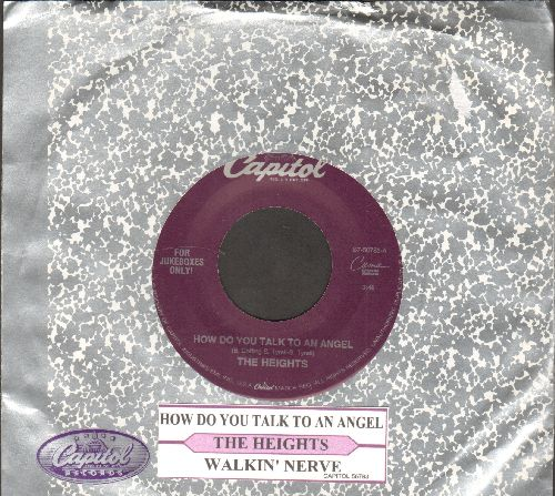 Heights - How Do You Talk To An Angel/Walkin' Nerve (with juke box label and Capitol company sleeve) - NM9/ - 45 rpm Records