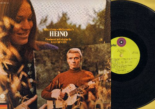 Heino - Sing-Along With Germany's Heino: Heia Safari, Piratenlied, Hohe Tannen, Ein Heller und ein Batzen (vinyl STEREO LP record, US Pressing, sung in German) - VG7/NM9 - LP Records