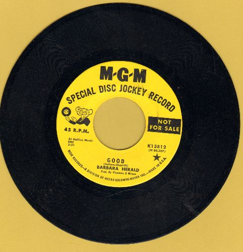 Herald, Barbara - Sure Would Be Neighborly/Good (Dolly Parton Sound-Alike!) (DJ advance pressing) - NM9/ - 45 rpm Records
