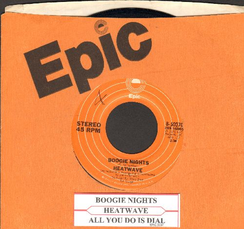 Heatwave - Boogie Nights/All You Do Is Dial (with Epic company sleeve and juke box label) - NM9/ - 45 rpm Records
