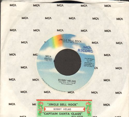 Helms, Bobby - Jingle Bell Rock/Captain Santa Claus (re-issue with MCA company sleeve and juke box label)) - NM9/ - 45 rpm Records