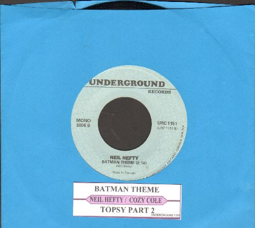 Hefti, Neal - Batman Theme/Topsy Part 2 (by Cozy Cole on flip side) (double-hit re-issue with juke box label) - NM9/ - 45 rpm Records