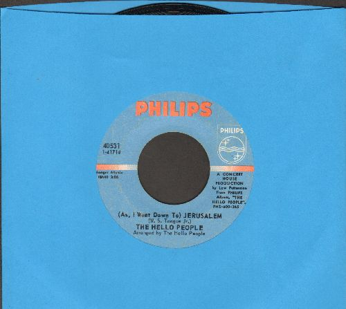 Hello People - (As, I Went Down To) Jerusalem/It's A Monday Kind Of Tuesday  - VG7/ - 45 rpm Records