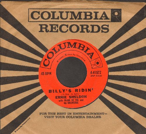 Sheldon, Ernie - Billy'[s Ridin'/The Frozen Logger (with vintage Columbia compan y sleeve) - EX8/ - 45 rpm Records