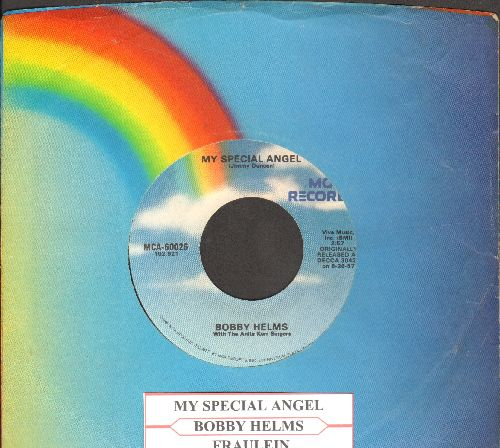 Helms, Bobby - My Special Angel/Fraulein (re-issue with juke box label and MCA company sleeve) - NM9/ - 45 rpm Records