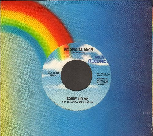 Helms, Bobby - My Special Angel/Fraulein (re-issue with MCA company sleeve) - EX8/ - 45 rpm Records