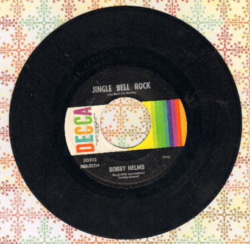 Helms, Bobby - Jingle Bell Rock/Captain Santa Claus  (multi-color label 1960s issue) - EX8/ - 45 rpm Records