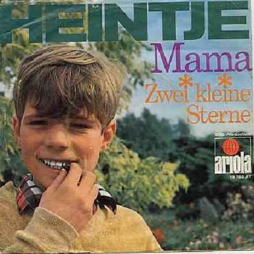 Heintje - Mama (EXTREMELY Popular German version of the Caruso Classic!)/Zwei kleine Sterne (German Pressing with picture sleeve) - NM9/EX8 - 45 rpm Records