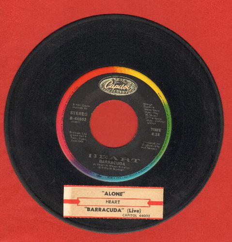 Heart - Barracuda/Alone (wth juke box label) - EX8/ - 45 rpm Records