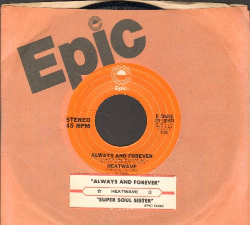 Heatwave - Always And Forever/Super Soul Sister (with Epic company sleeve and juke box label) - EX8/ - 45 rpm Records