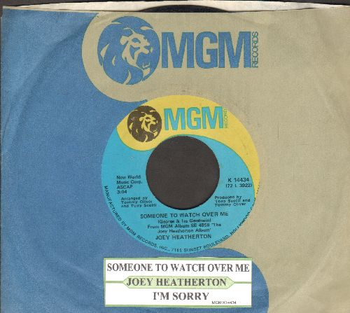 Heatherton, Joey - Someone To Wath Over Me/I'm Sorry (with juke box label and MGM company sleeve) - NM9/ - 45 rpm Records