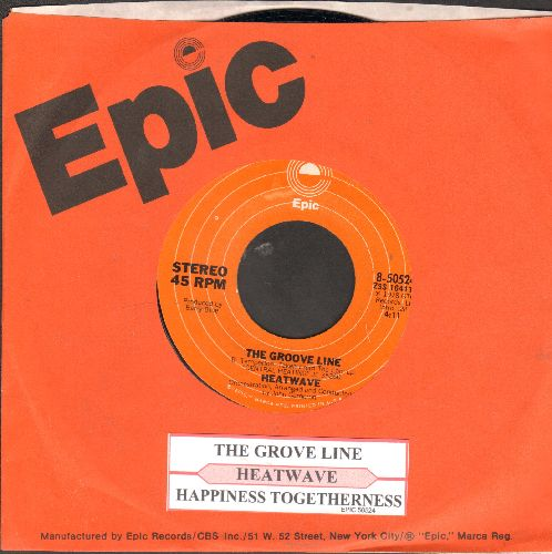 Heatwave - The Groove Line/Happiness Togetherness (with Epic company sleeve and juke box label) - NM9/ - 45 rpm Records