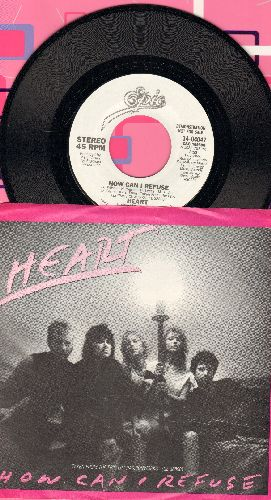 Heart - How Can I Refuse (double-A-sided DJ advance pressing with picture sleeve) - NM9/ - 45 rpm Records