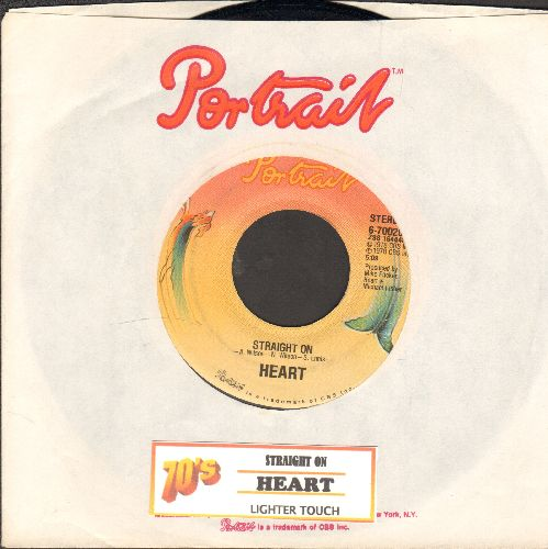 Heart - Straight On/Lighter Touch - EX8/ - 45 rpm Records