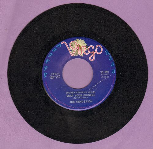 Henderson, Joe - Snap Your Fingers/Cry To Me (by Betty Harris on flip-side) (re-issue) - EX8/ - 45 rpm Records