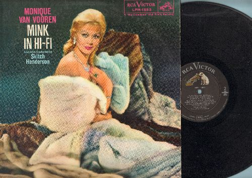 Van Vooren, Monique - Mink In Hi-Fi: Bed, Le Rififi, It's Au Revoir, Sheridan Square, My Man Is Good, Call Me Again When You're In Town (vinyl MONO LP record) - EX8/EX8 - LP Records