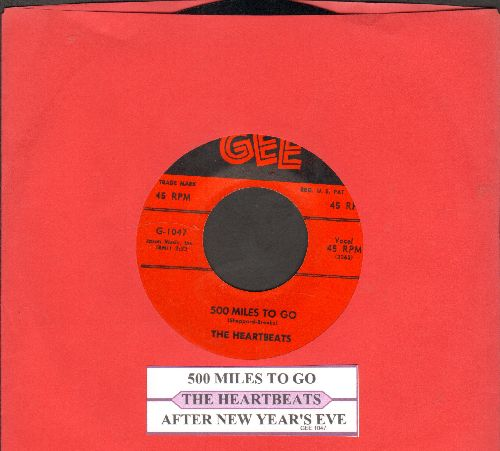 Heartbeats - After New Year's Eve/500 Miles (with juke box label) - NM9/ - 45 rpm Records