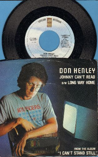 Henley, Don - Johnny Can't Read/Long Way Home (with picture sleeve) - M10/EX8 - 45 rpm Records