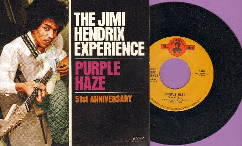 Hendrix, Jimi Experience - Purple Haze/51st Anniversary (re-issue with picture sleeve) - NM9/NM9 - 45 rpm Records