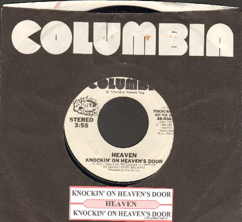 Heaven - Knockin' On Heaven's Door (double=A-sided DJ advance pressing with Columbia company sleeve and juke box label) - NM9/ - 45 rpm Records