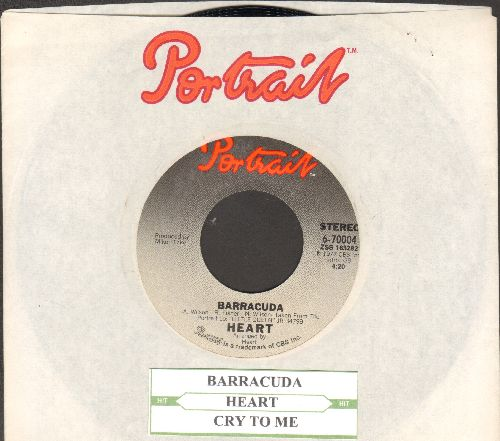 Heart - Barracuda/Cry To Me (with juke box label and Portrait company sleeve) - NM9/ - 45 rpm Records
