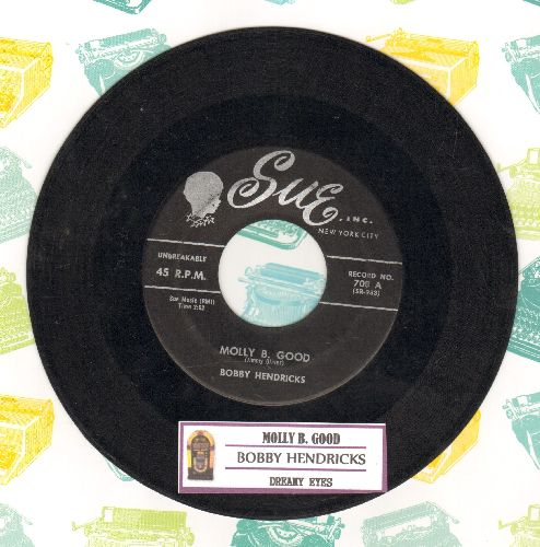 Hendricks, Bobby - Molly B. Good/Dreamy Eyes (with juke box label) - VG7/ - 45 rpm Records