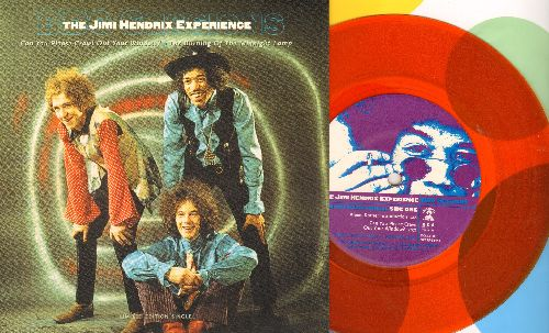 Hendrix, Jimi Experience - BBC Sessions: Can You Please Crawl Out Your Window/The Burning Of The Midnight Lamp (Ornage Vinyl Commemorative Pressing with picture cover, 7 inch vinyl record with small spindle hole) - NM9/NM9 - 45 rpm Records