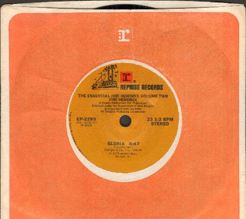 Hendrix, Jimi - The Essential Jimi Hendrix Volume Two: Gloria (RARE 7 inch 33rpm STEREO record with small spindle hole and Reprise company sleeve!) - NM9/ - 45 rpm Records