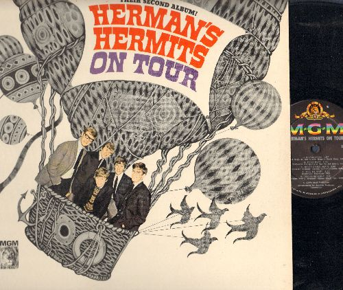 Herman's Hermits - On Tour: Can't You Hear My Heatbeat, I'm Henry VIII I Am, The End Of The World, For Your Love, Silhouettes, Heartbeat (Vinyl MONO LP record) - NM9/NM9 - LP Records